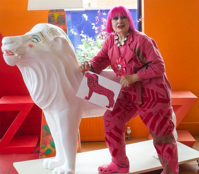 Zandra Rhodes joins pride of lion artists