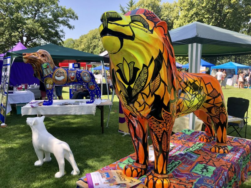 Roarsome day at the Windsor Summer Fayre