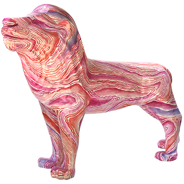 Rose Marble Lion (Lot 12)