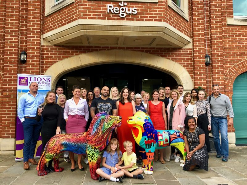 Roarsome evening with Regus artists and lion sponsors