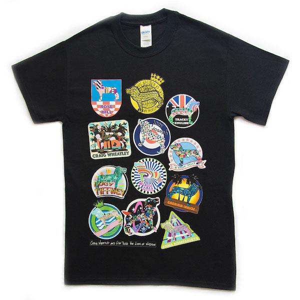 Lion badges tshirt black