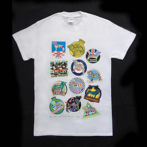 Lion badges tshirt white