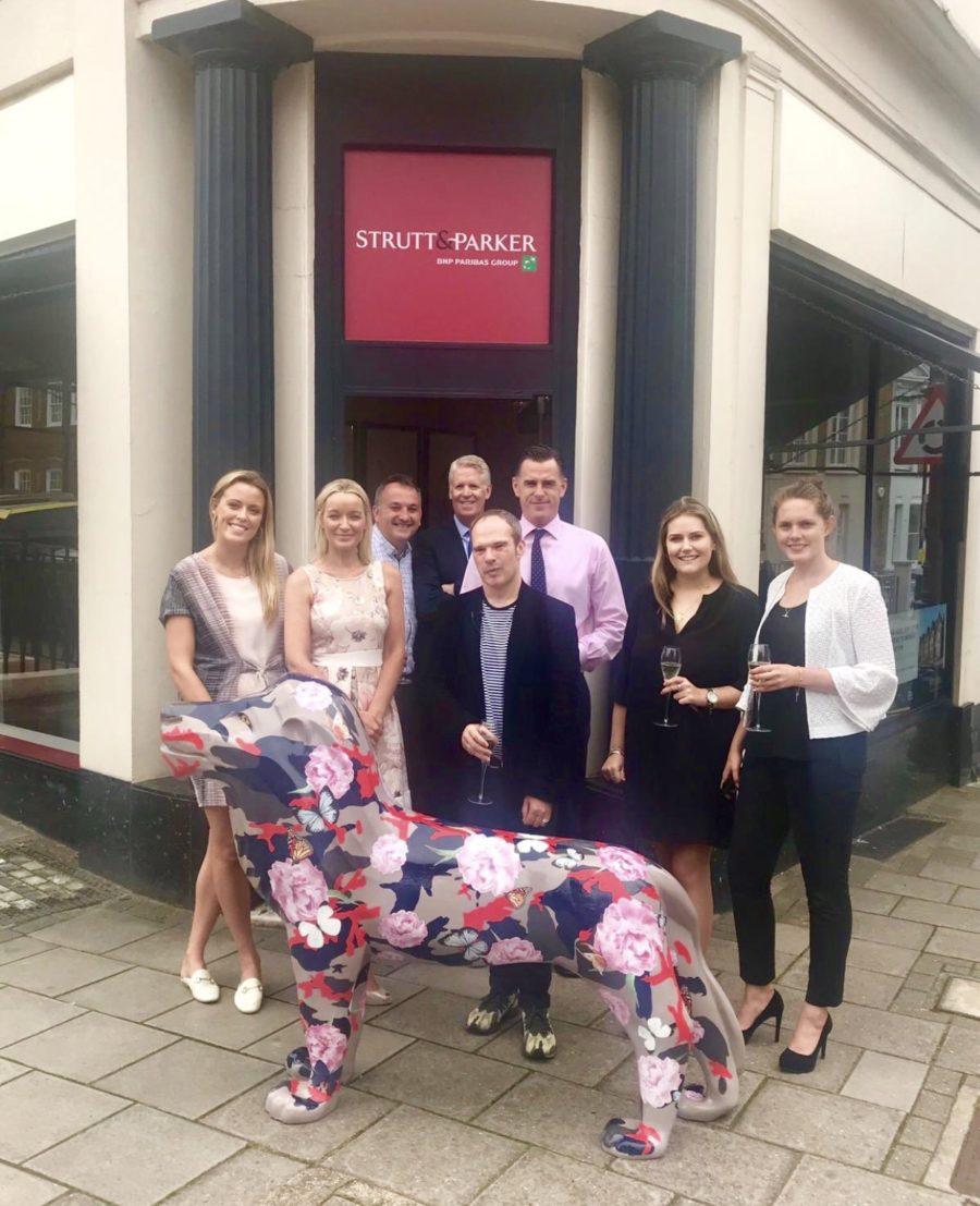 Top Paris fashion designer decorates Strutt & Parker lion sculpture