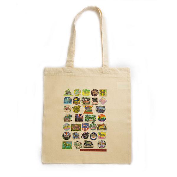 Tote bag lion badges