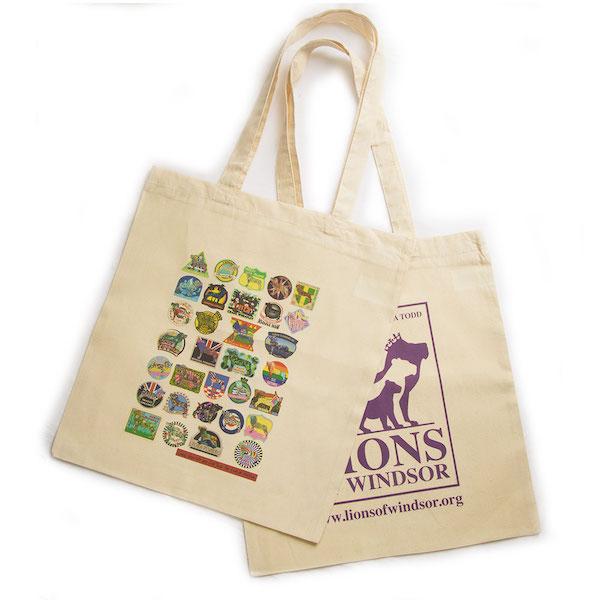 Tote bags both design