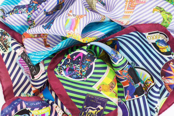 silk scarves pocket